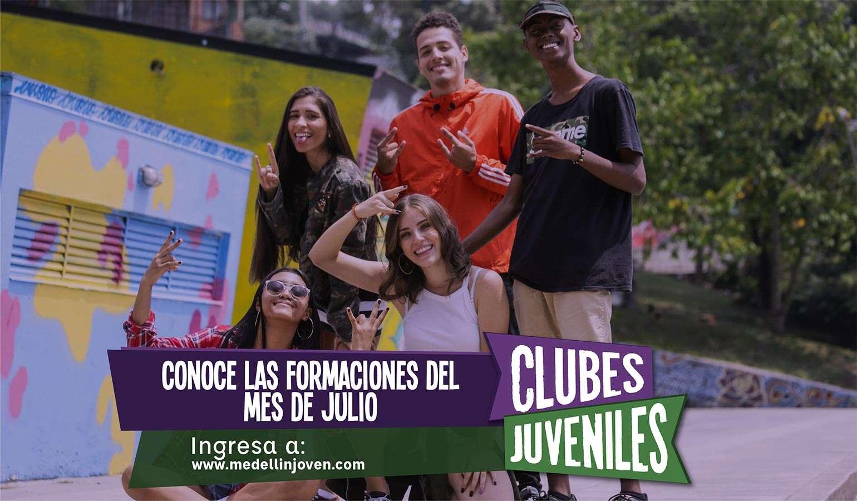 ¡Participa en las formaciones de Clubes Juveniles durante el mes de julio!