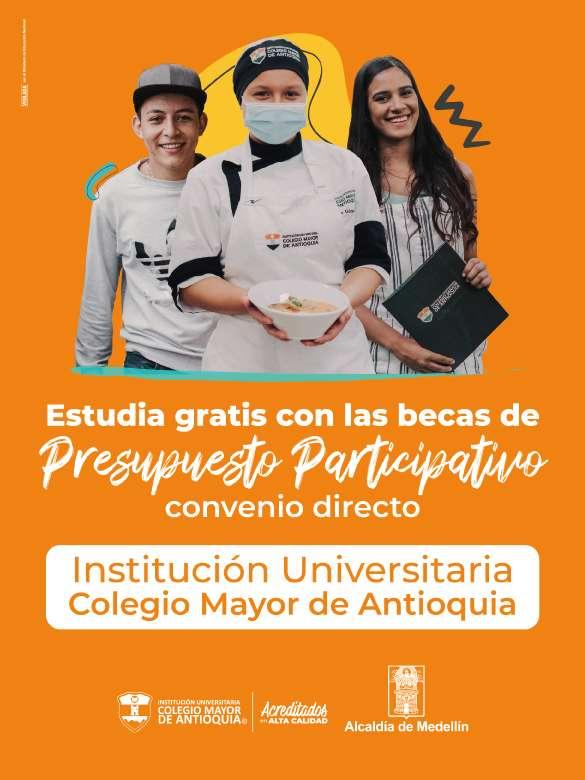 Accede a una de las becas completas para estudiar en la I.U. Colegio Mayor de Antioquia