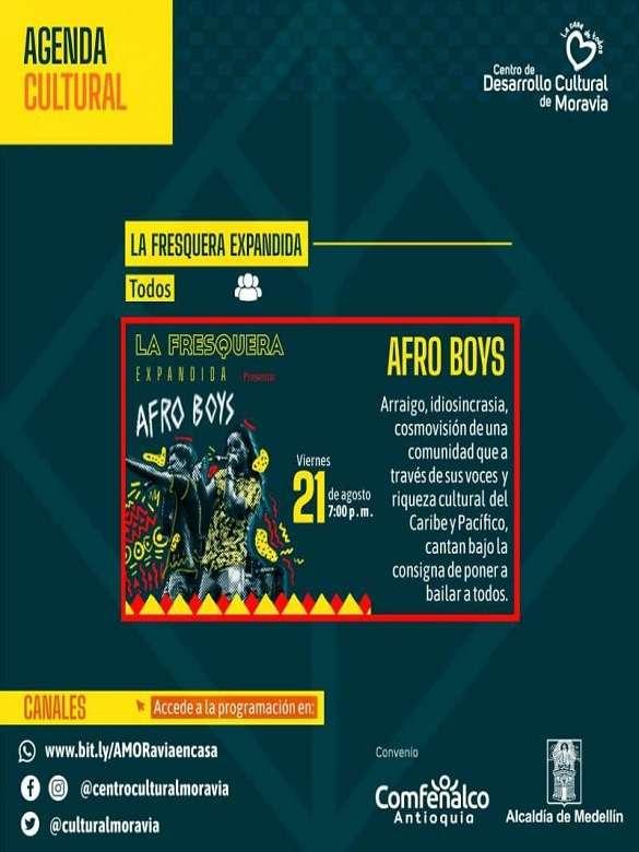 No te pierdas el show gratuito Afro Boys en La Fresquera Expandida del Centro de Desarrollo Cultural de Moravia