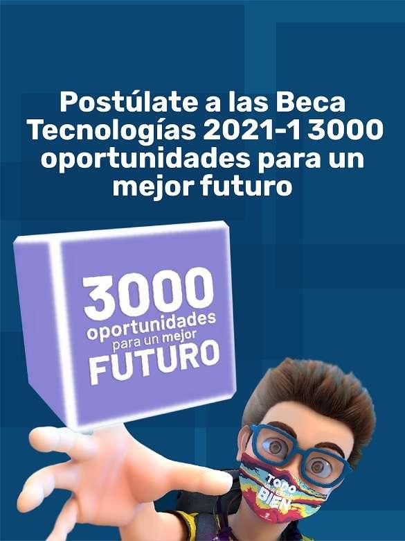Inscríbete y obtén una de las 3.000 becas para estudiar programas tecnológicos