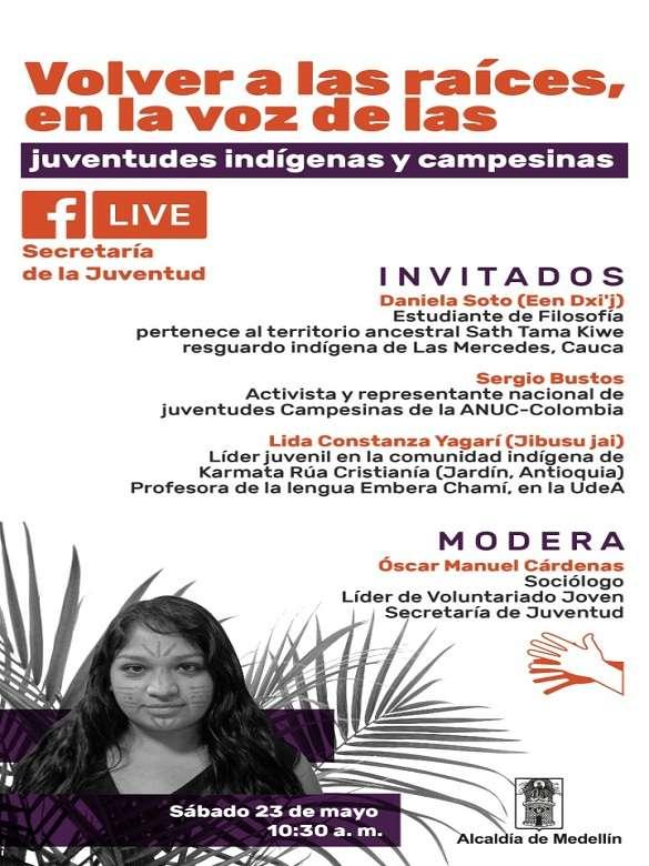 Únete a la charla virtual 'Volver a las raíces en la voz de las juventudes indígenas y campesinas'