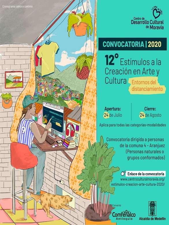Participa de la 12° Convocatoria de estímulos a la Creación en Arte y Cultura 'Entornos de distanciamiento'