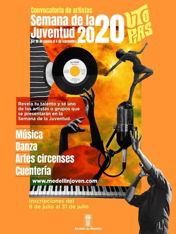 Postúlate a la convocatoria de artistas jóvenes y lleva todo tu talento a la programación de la Semana de la Juventud 2020
