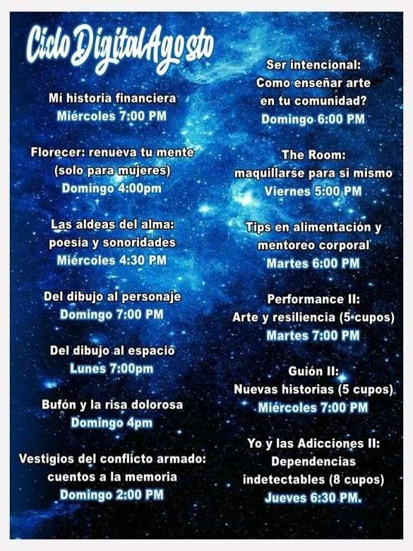 Inscríbete y participa en los cursos virtuales gratuitos del Teatro La Parlacha
