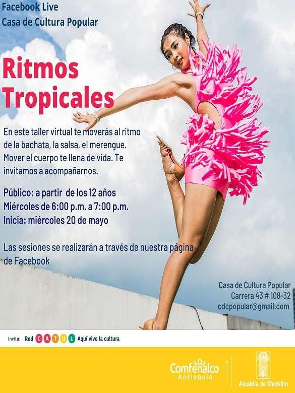 ¡A mover tu cuerpo con este taller de ritmos tropicales de la Casa de Cultura Popular!