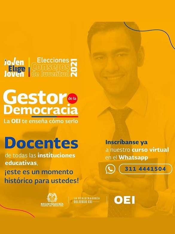 Haz parte del curso Agentes Educativos Gestores de la Democracia