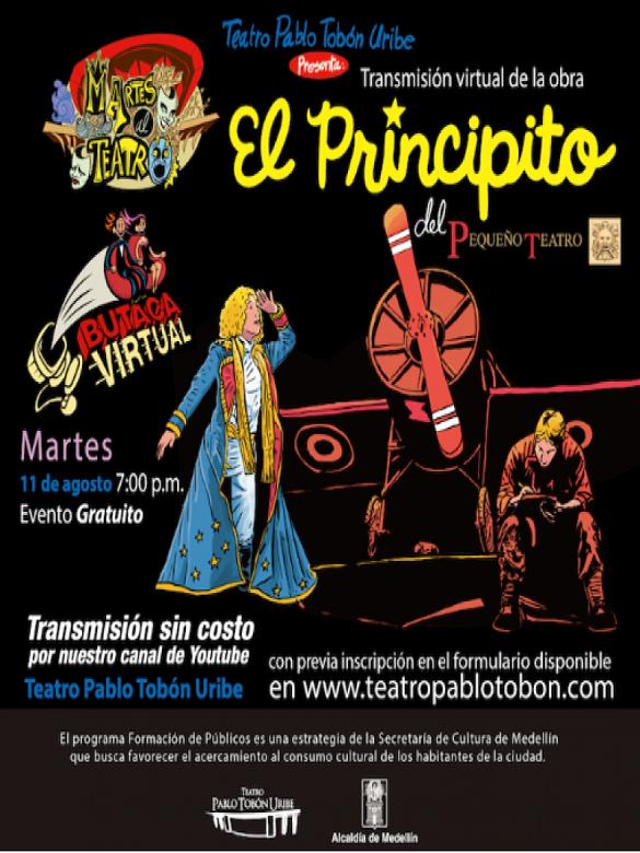 No te pierdas la obra de teatro El Principito con montaje de El Pequeño Teatro de Medellín