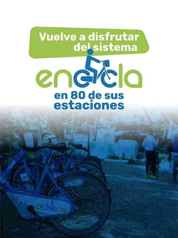 EnCicla vuelve a rodar en 80 de sus estaciones