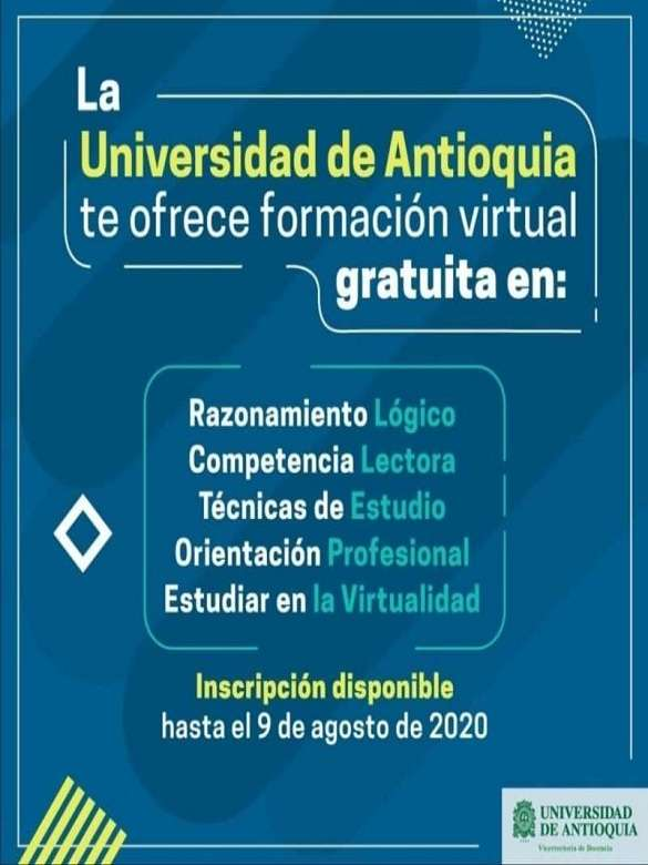 Prepárate para la vida universitaria con los cursos de formación virtual gratuita de la UdeA