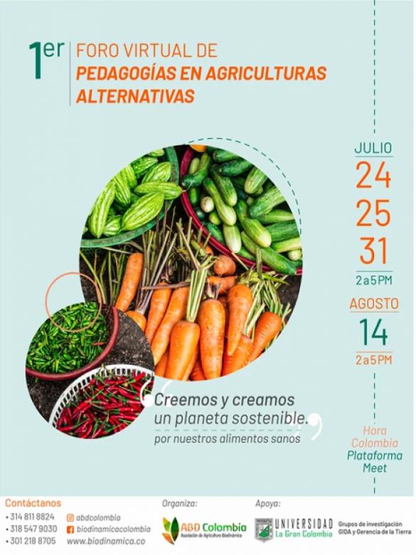 Participa en el Foro Virtual de Pedagogías en Agriculturas Alternativas