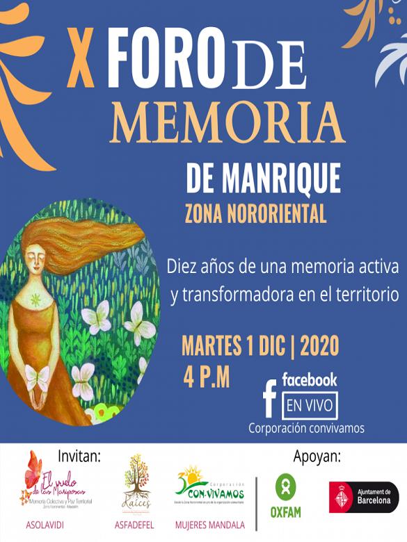 Participa en el Décimo Foro de Memoria de Manrique Zona Nororiental