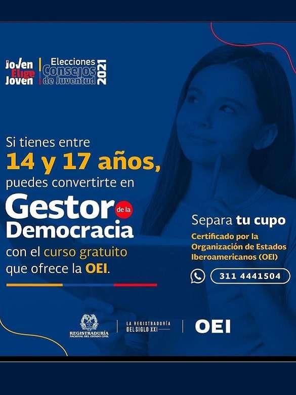 Fórmate con el curso Jóvenes Gestores de la Democracia