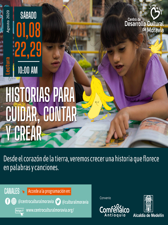 Únete a Historias para cuidar, contar y crear del Centro de Desarrollo Cultural de Moravia