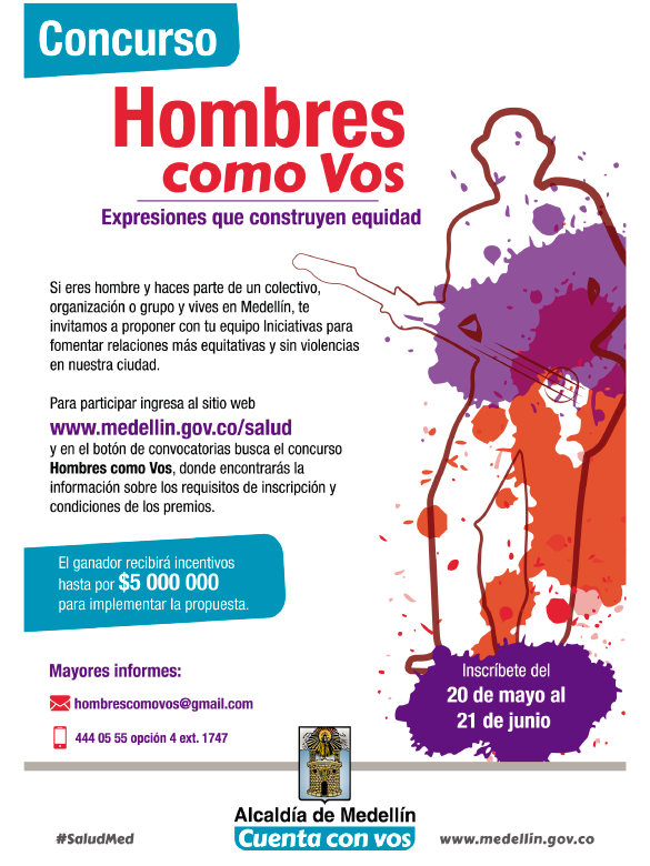 Si con tus expresiones aportas a la construcción de equidad en Medellín, ¡postúlate a este concurso!