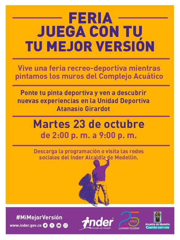 ¡Estás invitado a celebrar los 25 años del INDER con actividades gratuitas!