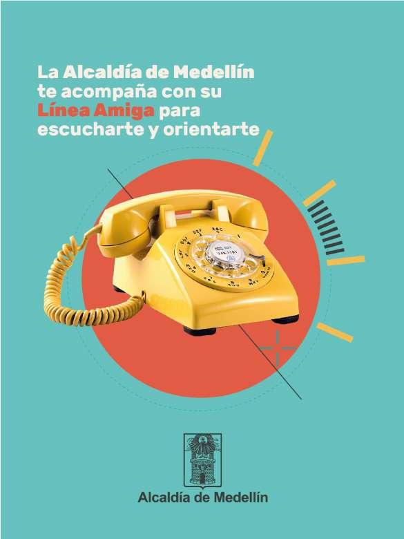 La Alcaldía de Medellín te acompaña con su Línea Amiga para escucharte y orientarte