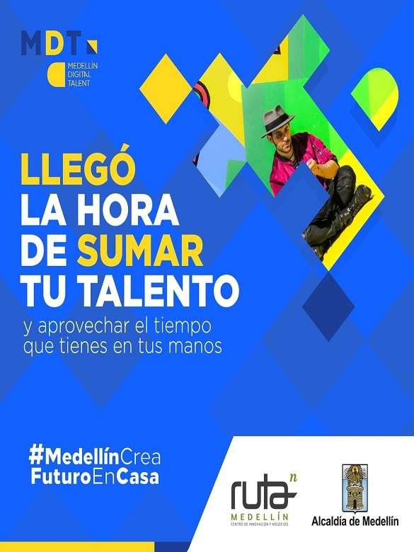 Potencia tus habilidades tecnológicas, durante y después de la contingencia, con Medellín crea futuro en casa