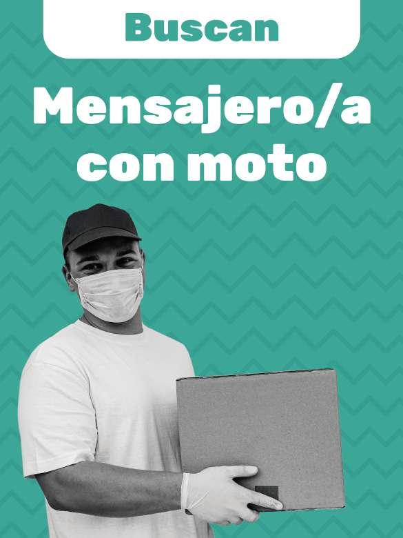 ¿Buscas empleo? Postúlate a esta vacante de mensajero/a con moto
