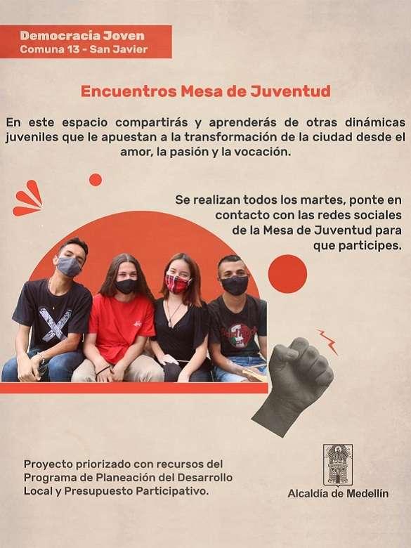 Haz parte de la Mesa de Juventud de la Comuna 13 - San Javier
