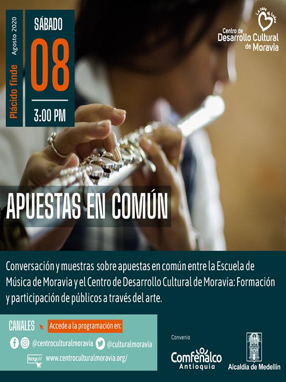 Participa de #PlácidoFinde de Apuestas en Común, conversatorio y muestra cultural de la comuna 4