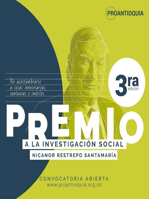 Participa en la 3ra. edición del Premio Nicanor Restrepo Santamaría a la Investigación Social
