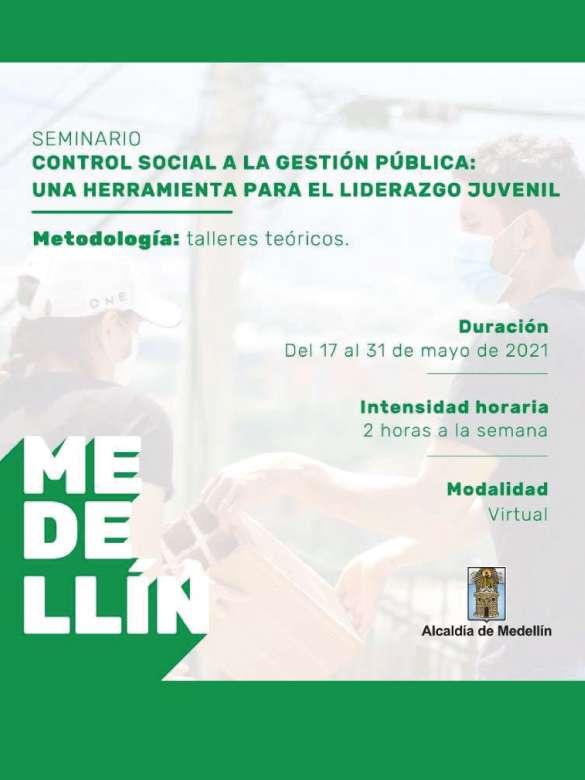 Participa en el seminario Control Social a la Gestión Pública: una herramienta para el liderazgo juvenil