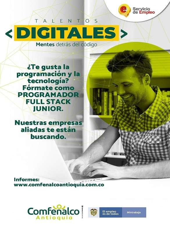 Fórmate como programador/a Full Stack Junior con la convocatoria 'Talentos Digitales' de Comfenalco Antioquia