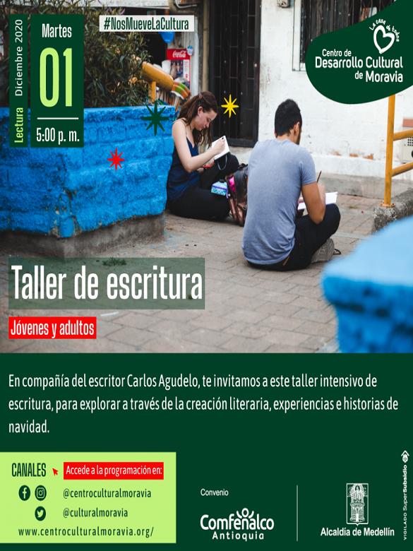 ¿Te gusta la escritura? Participa del taller Relatos de Navidad con Carlos Agudelo