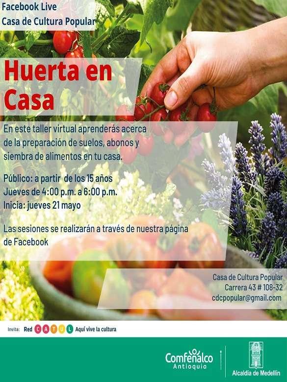 Participa en el taller 'Huerta en casa' y aprende a cultivar tus propios alimentos