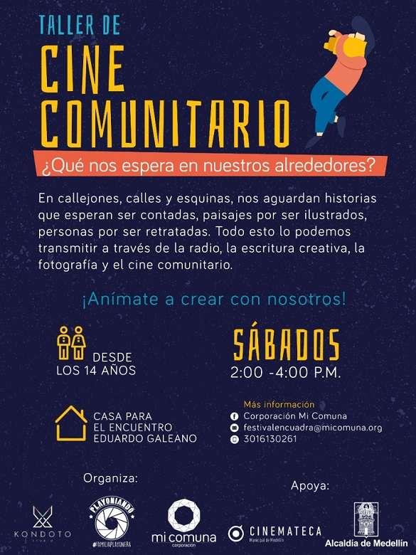 Haz parte de los talleres de iniciación del IV Festival de Cine Comunitario En-Cuadra