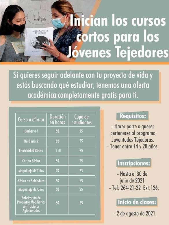 Fórmate con los cursos cortos para los Jóvenes Tejedores