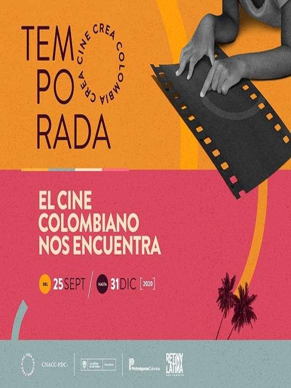 Súmate a la Temporada Cine Crea Colombia y disfruta de lo mejor del cine local y nacional