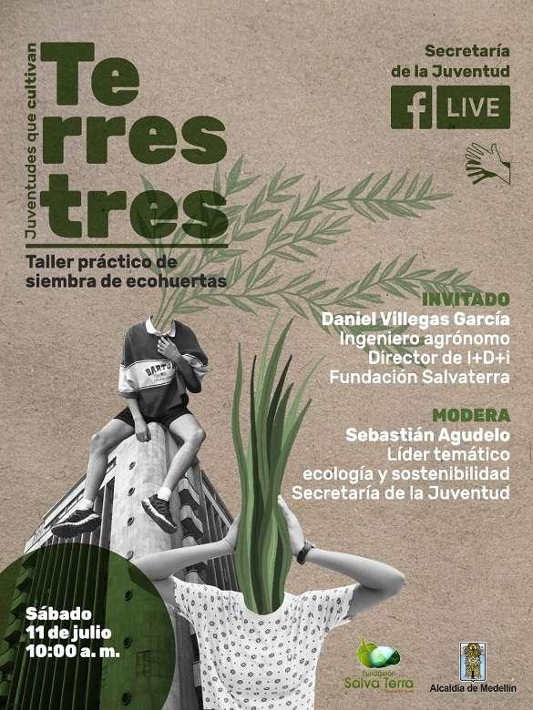 Participa en el taller práctico de siembra de ecohuertas 'Terrestres, juventudes que cultivan'