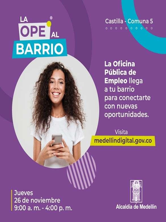 Participa en la microferia de intermediación laboral de la Oficina Pública de Empleo en Castilla