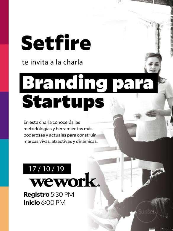 "Asiste a la charla ""Branding para startups"""
