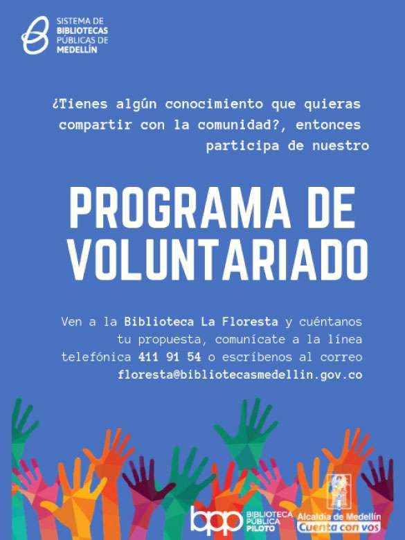 ¿Tienes algún conocimiento para compartir con los demás? ¡Acércate a este voluntariado!