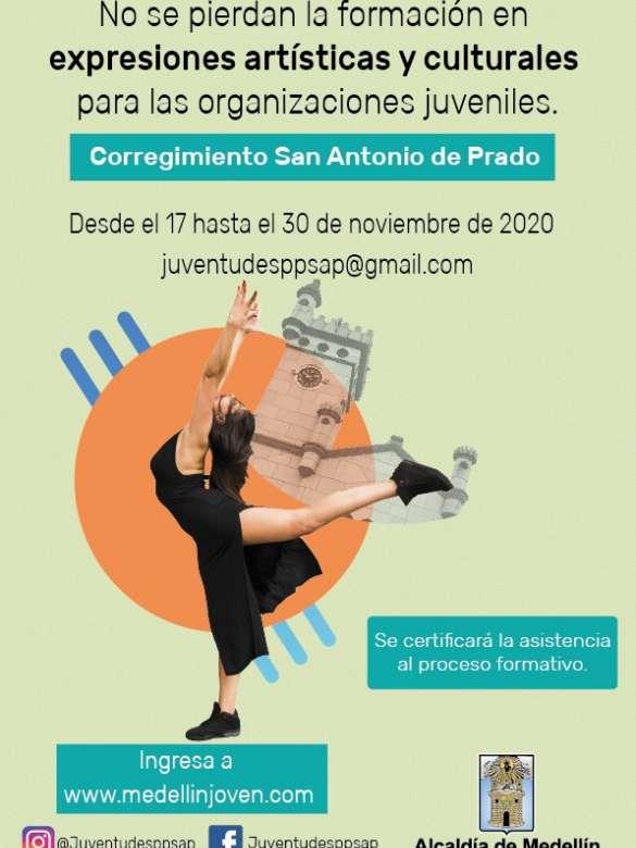 ¡Atentas juventudes de San Antonio de Prado! No se pierdan la formación en expresiones artísticas y culturales para las organizaciones juveniles