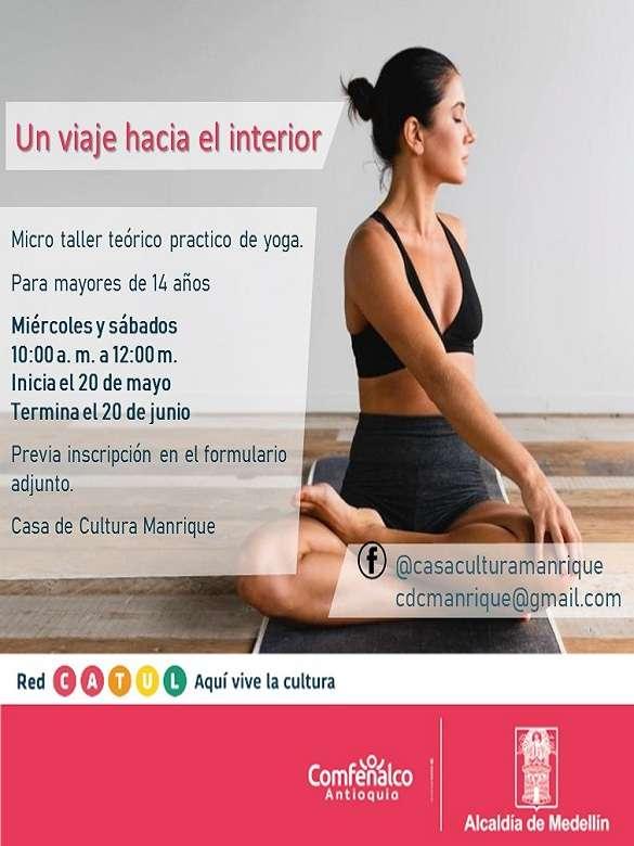 Explora tu cuerpo con el micro taller de Yoga 'Un viaje hacia el interior'